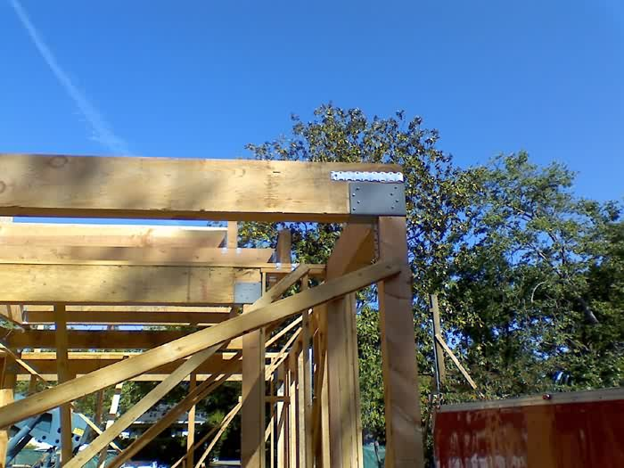 Framing in progress, Palo Alto, California