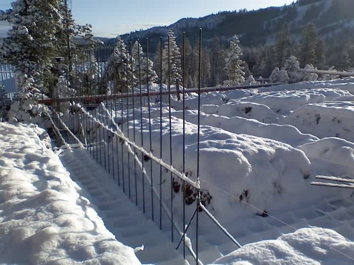 Foundation, Slopeside Home, Sugar Bowl Ski Resort, Norden, California